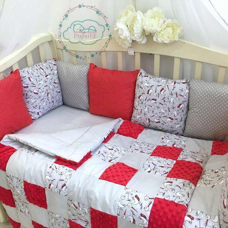 Новые бортики в кроватку, защита в кроватку. Детское постельное белье.