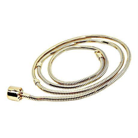 Złoty naszyjnik łańcuszek 50 cm do charmsów elementów podstawa