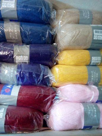 Пряжа нитки для вязания. Angora RAM мохер.