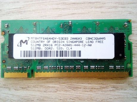 ddr2 512 память для ноутбука
