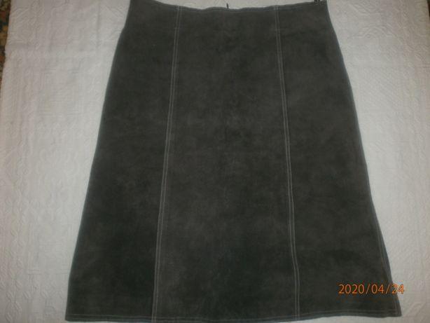 Кожаная юбка , замша. размер 50-52