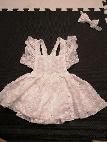 Ubranko białe z opaska sesja dziecięca