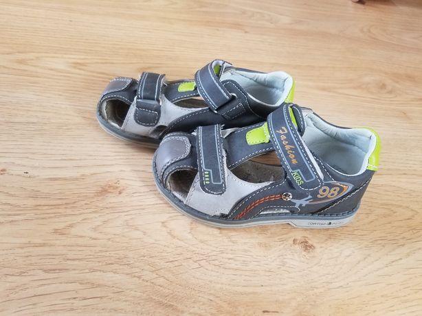 Sandałki sandały szare popularne 24 półpełne Fashion Kids