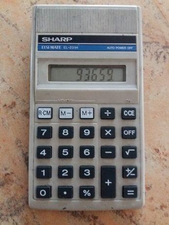 Stary, dziajacy kalkulator Sharp EL-231H
