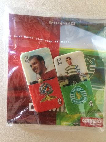 colecção de saquetas de Dominó do Benfica/Sporting do Correio da Manhã