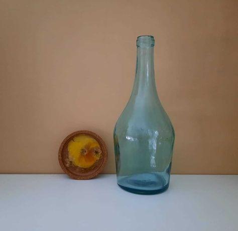 Retro butelka szklana wazon ozdoba