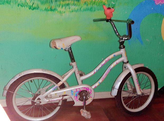 Продам детский красивый белый велосипед