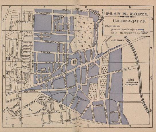 ŁÓDŹ 1933 r. reprodukcje map do wystroju wnętrza, biura, gabinetu