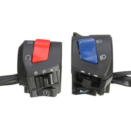 Comutador universal de mota (luzes, pisca, buzina) NOVO