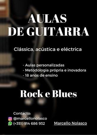 Aulas de Guitarra (clássica, acústica e eléctrica)