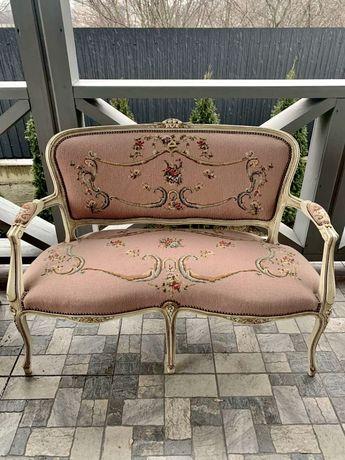 Диван софа розовый, дерево, роспись.Цена за диван. Компануйте наборами