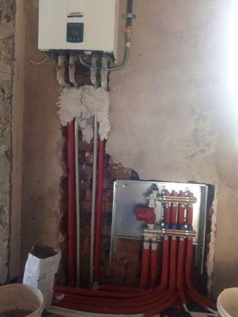 Монтаж современных систем отопления и водоснабжения.