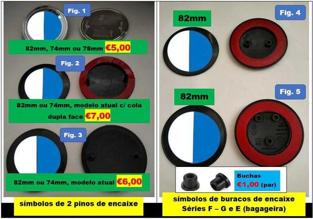 Símbolo / Emblema para todos os modelos BMW Várias cores