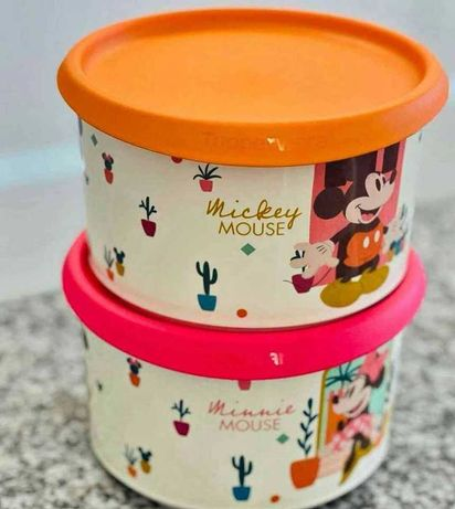 2 Caixas Mickey & Minnie Tupperware