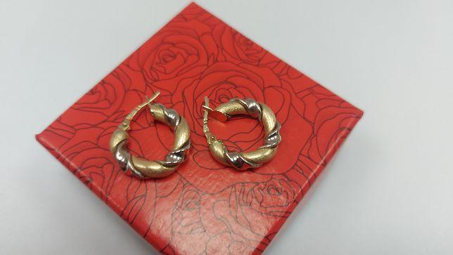 Złote kolczyki kółka złoto 585