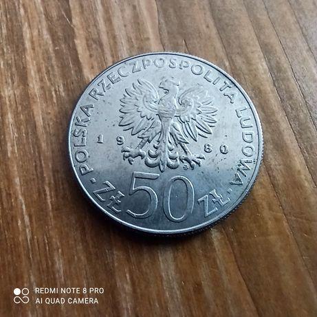 Moneta okolicznościowa 50 zl 1980