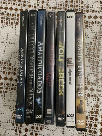 Vendo lote de 7 DVD originais Terror