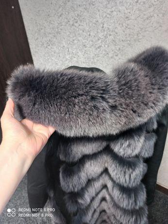 Шуба,жилетка,Кожаная куртка песец,желетка