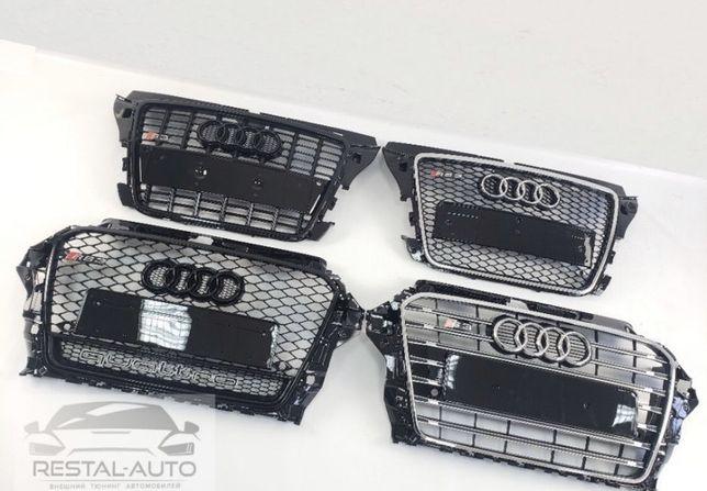 Решетка Audi A1,A3,A4,A5,A6,A7,A8,Q3,Q5,Q7,Q8,в стиле S RS а TT с рс