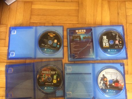 Gry Ps4 Minecraft Second son Battlefield last of us
