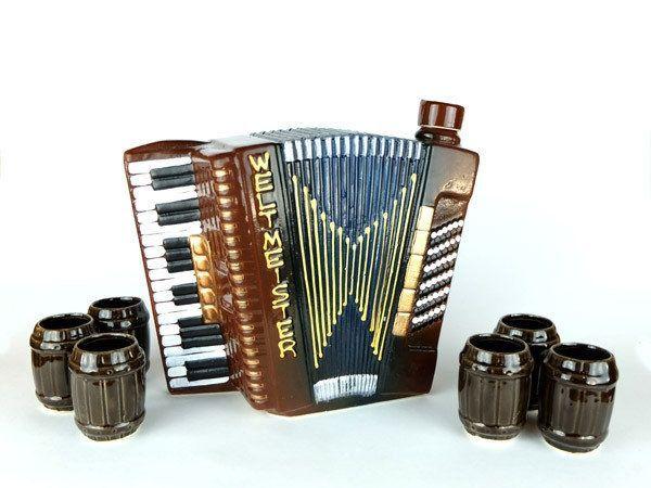 Аккордеон бутылка, оригинальный набор для спиртного, подарок музыканту