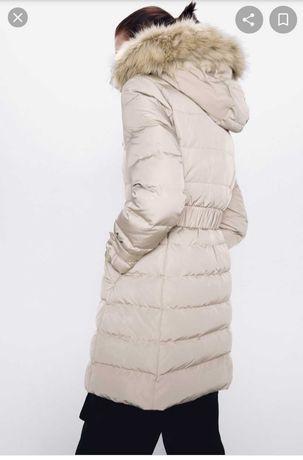 Пуховик Zara пух-перо размер XS