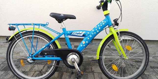 Śliczny rower dla dziewczynki ok 4-7lat koła 20 cali,