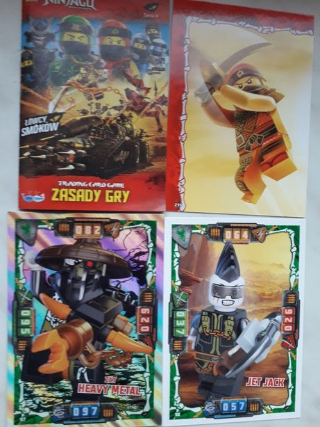 Karty Lego NINJAGO ŁOWCY SMOKÓW seria 4 .