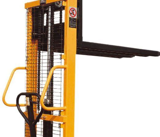Empilhador Stacker monta-cargas porta-paletes eleva 1 ton até 2,5m