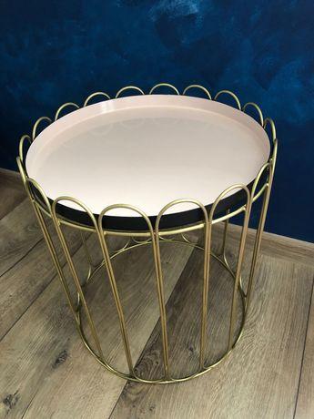 Stolik kawowy złoto rozowy