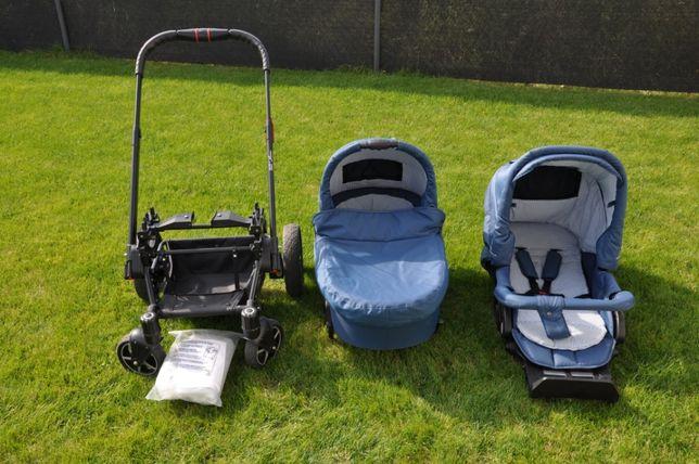 Wózek Hartan VIP Belly Button + fotelik Britax Romer + baza + śpiworek