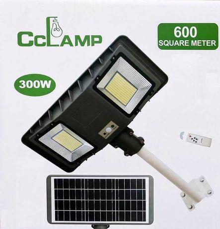 Сверхъяркий уличный LED Фонарь-прожектор 300W на солнечной батарее