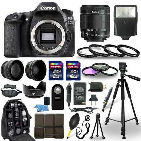 Canon EOS 80D SLR Camera + 18-55mm STM Lens + 22 Accessory