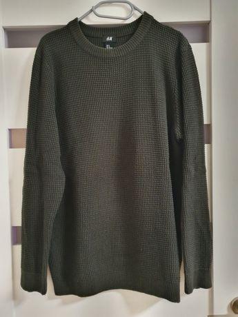 Sweter khaki H&M. 100% bawełna.