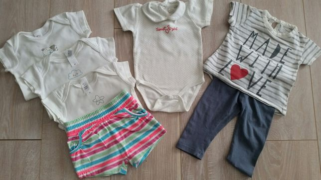 Zestaw r.68 spodnie bluzka body cool club c&a