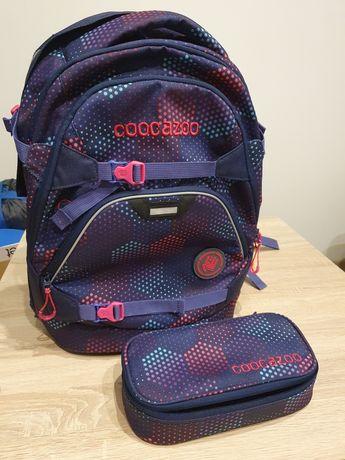 Plecak szkolny CoocaZoo ScaleRale, Purple Illusion plus piórnik