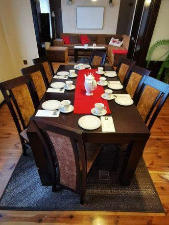 Stół krzesła dąb venge 180/95/75