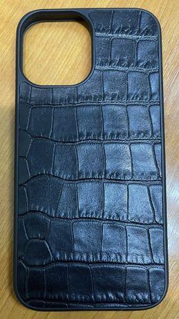 Чехол для Iphone 12 pro max из кожи