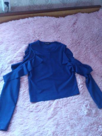 Блузка топ синего цвета