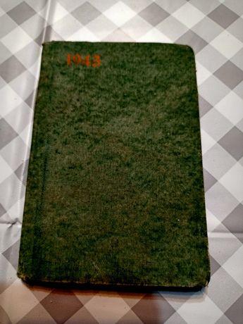 Stary niemiecki kalendarz 1943rok