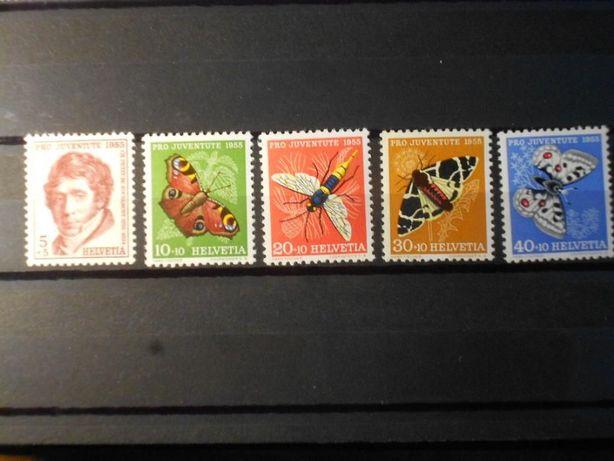 Znaczki pocztowe - Szwajcaria-owady ,Pro Juventute-55r