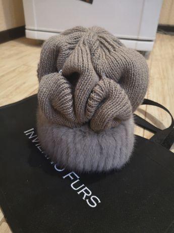 Продам эксклюзивную , очень красивую новую зимнюю шапку с норкой
