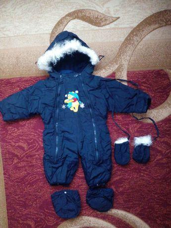Детский зимний комбинезон ,очень теплый.
