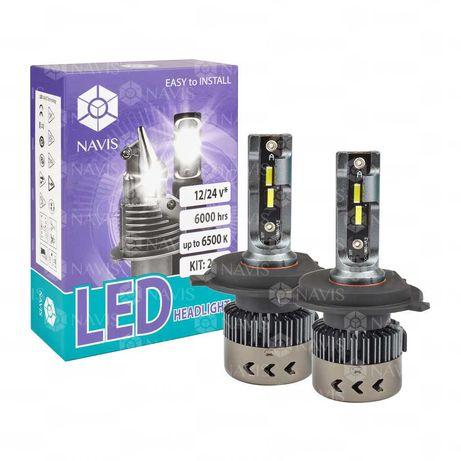 LED H4 12/24V 24W 6500K Navis