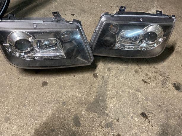 Lampy VW Bora Angel Eyes czarne dioda IDEALNE! Kompletne 2szt