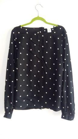H&M 36 S bluzka czarna w grochy