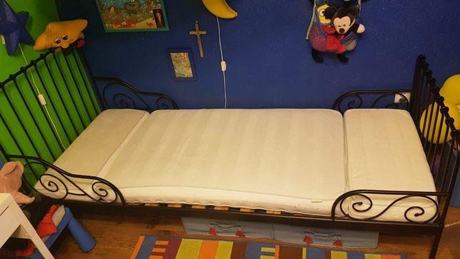 Łóżko dziecięce rozsuwana rama 130 - 200 cm + materac