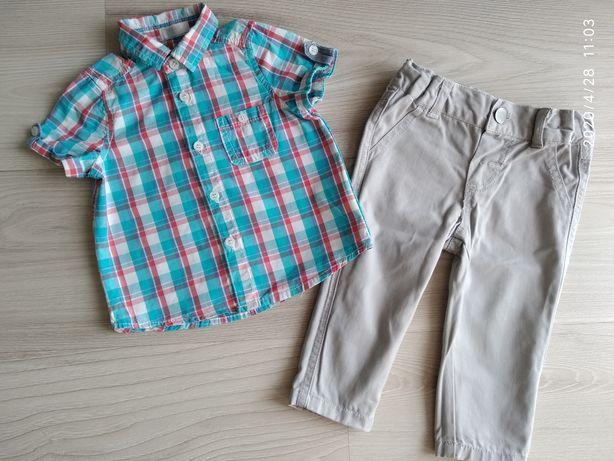 Koszula + spodnie r. 74