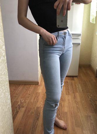 Джинсы, Bershka, Бершка, светлые джинсы,  скинни
