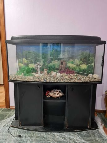 Продам Аквариум б/у на 250л + Тумба под аквариум